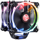 Raijintek Leto Pro CPU Cooler, black, RGB-LED - 2x120mm