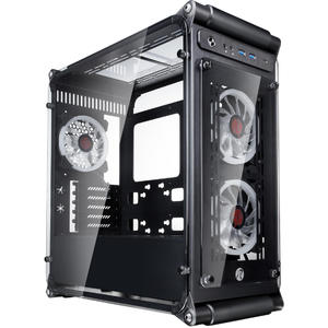 Raijintek Coeus Elite TC Micro-ATX Case, Tempered Glass - black