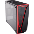 Carbide Series SPEC-04 Tempered Glass Mid-Tower Gaming Case — Black/Red