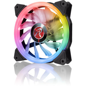 Ventilator Raijintek IRIS 14 Rainbow RGB LED Fan, 2pcs set including Controller - 140mm