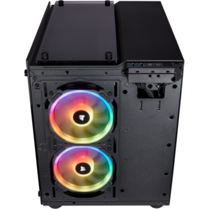 Corsair Crystal Series 280X RGB Tempered Glass Micro ATX Case — Negru