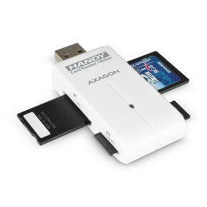 AXAGON External HANDY Card Reader 4-slot SD/MicroSD/MS/M2, White