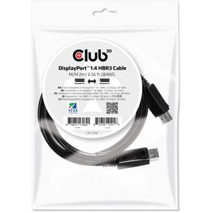 CLUB3D Cablu DisplayPort 1.4 HBR3 Male/Male 2m