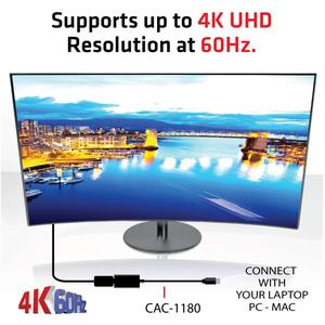 CLUB3D Adaptor Mini DisplayPort 1.4 la HDMI 2.0b HDR