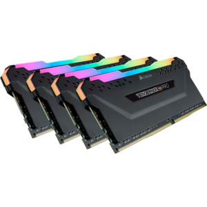 Corsair VENGEANCE® RGB PRO 32GB (4 x 8GB) DDR4 DRAM 4000MHz C19 Memory Kit — Black - 1.35V