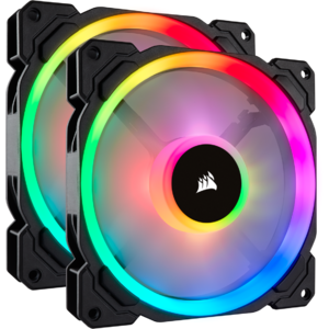 Ventilator Corsair LL140 RGB 140mm Dual Light Loop RGB LED PWM Fan — 2x140, cu Lighting Node PRO