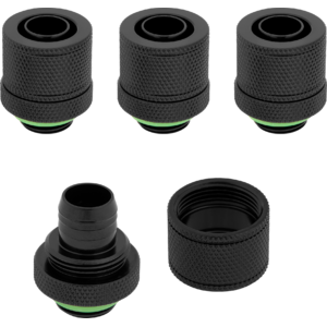 "Corsair Hydro X Series XF Compression 10/13mm (3/8"" / 1/2"") ID/OD Fittings Four Pack Black"