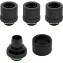 "Hydro X Series XF Compression 10/13mm (3/8"" / 1/2"") ID/OD Fittings Four Pack Black"