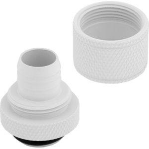 "Corsair Hydro X Series XF Compression 10/13mm (3/8"" / 1/2"") ID/OD Fittings Four Pack White"