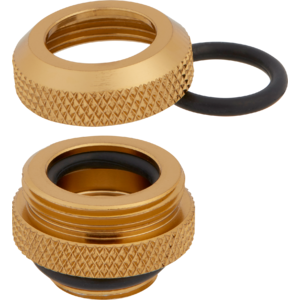 Corsair Hydro X Series XF Hardline 12mm OD Fittings Four Pack Gold
