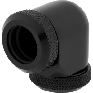 Corsair Hydro X Series XF Hardline 90° 12mm OD Fittings Twin Pack Black
