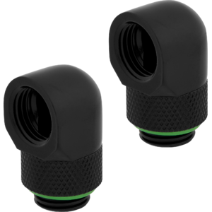 Corsair Hydro X Series 90° Rotary Adapter Twin Pack Black