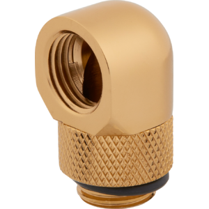 Corsair Hydro X Series 90° Rotary Adapter Twin Pack Gold
