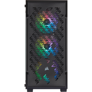 Corsair iCUE 220T RGB Airflow Tempered Glass Mid-Tower Smart Case — Negru