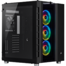 Crystal Series 680X RGB ATX High Airflow Tempered Glass Smart Case — Negru