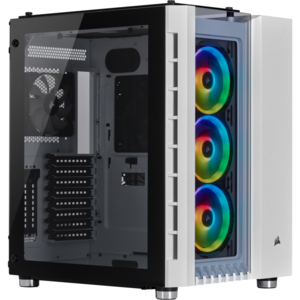 Corsair Crystal Series 680X RGB ATX High Airflow Tempered Glass Smart Case — Alb