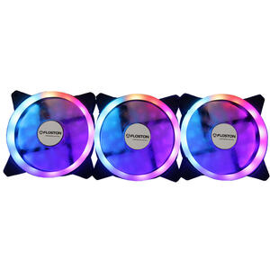 Ventilator Floston HALO RGB LED3xfan KIT