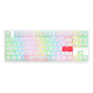 DUCKY One 2 RGB TKL Pure White, Cherry Silent Red