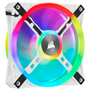 Ventilator Corsair iCUE QL120 RGB 120mm RGB PWM White Triple Fan Kit with Lighting Node CORE