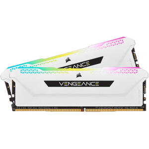 Corsair Vengeance RGB Pro SL 32GB, DDR4, 3200MHz, CL16, 2x16GB, 1.35V - Alb
