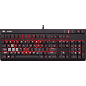 Corsair Gaming STRAFE Red LED, Cherry MX Blue, Layout NA