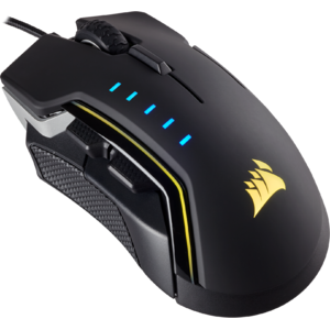 Corsair Gaming GLAIVE RGB LED, 16000 DPI, Aluminium
